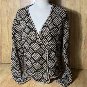 Lucky Brand Wool Blend Cardigan Sweater Size L